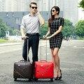 Коммерческие 16 универсальные колеса тележки багажа замуж небольшой кожаные коробки, красный/коричневый/черный коммерческий тележки багажа мешки