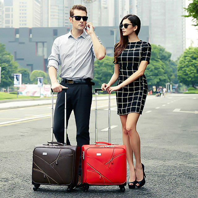b480ae7e2ce1d Commercial 16 universal wheels trolley luggage married small leather the box