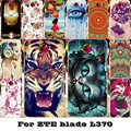 Soft Solicon TPU Painted Phone Covers Cases For ZTE Blade L3 Apex/Blade L370 5.0 inch Cases Back cover housing for ZTE  L370 bag