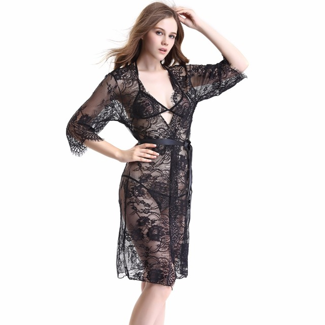 Sexy lace robe