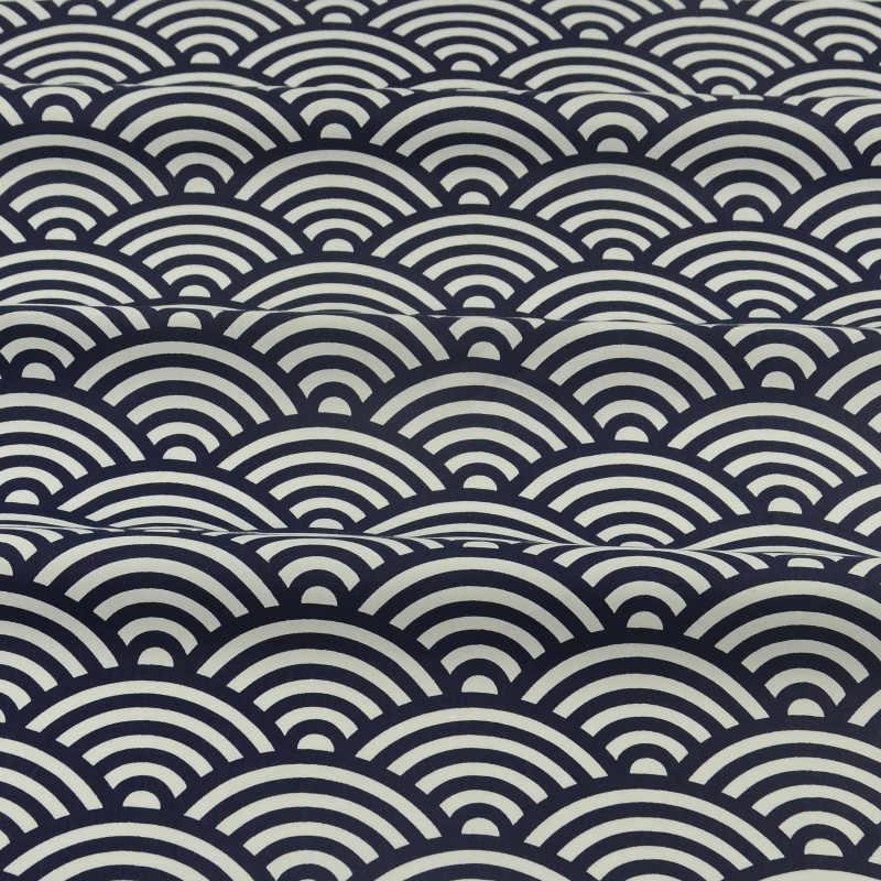黒と白のセクターデザイン綿 100% 生地縫製 Tecido スクラップブッキング寝具ツイル布パッチワークテラホームテキスタイル