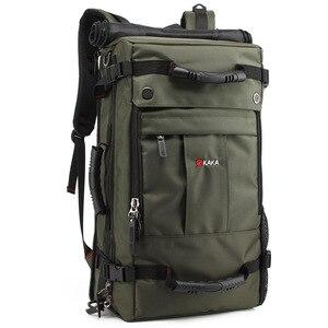Image 5 - Kaka mochila de laptop impermeável de 40 l, mochila multifuncional de alta capacidade para viagem, escola, caminhadas