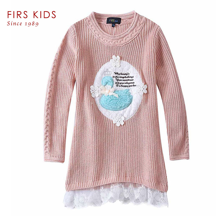 Knitting Sweaters For Girls : Firs children sweater girls knitted dress