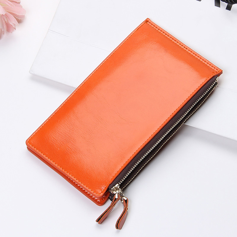 YOUYOU MOUSE Casual Style Womens Wallet Multi-Card Bit Hasp Zipper Long Section Solid Color Ladies Purse PU Leather Card Holder vintage iron pendant light industrial lamps e27 cage pendant lamp hanging lights fixture with glass guard indoor lighting