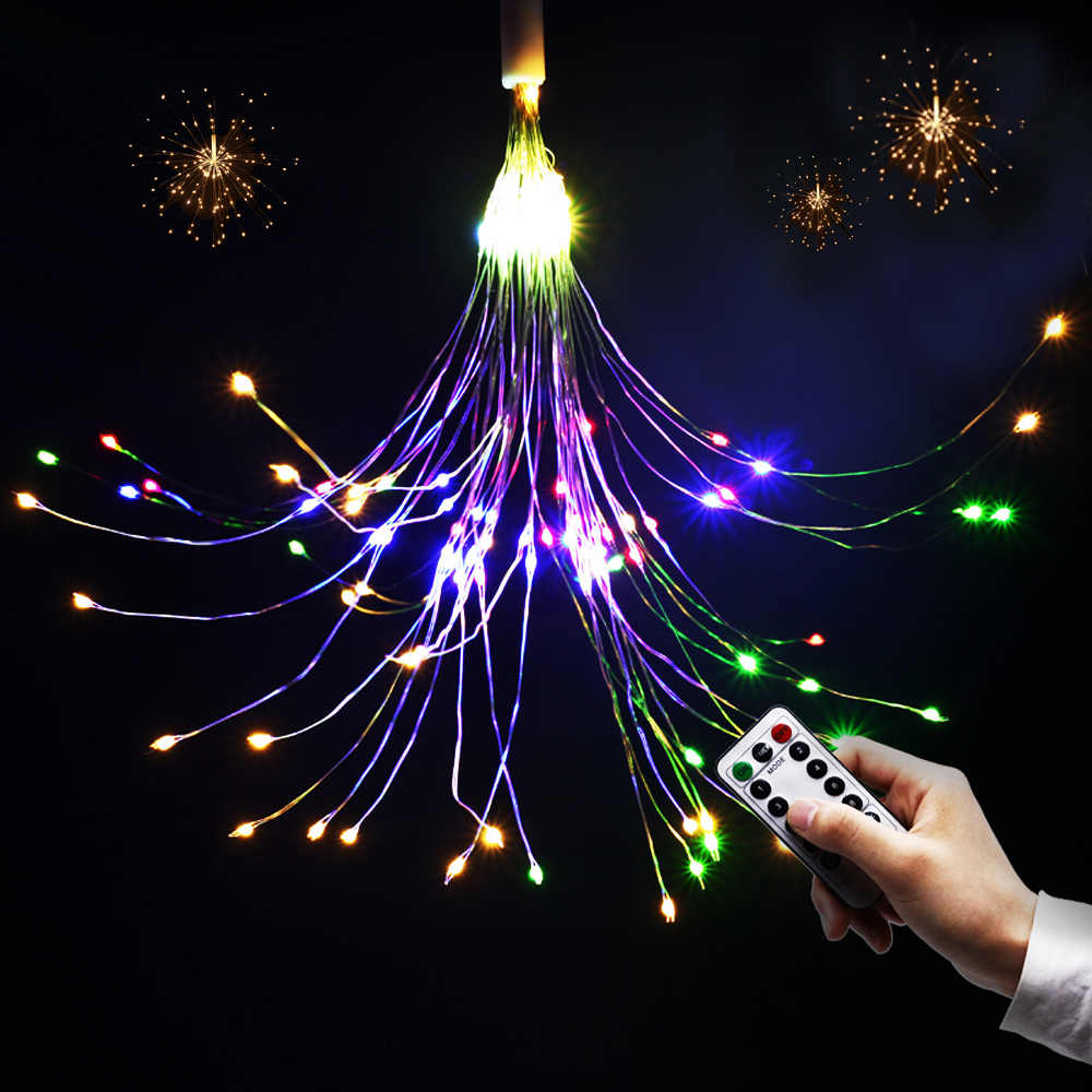 Led Christmas Lights Battery Operated Usb Remote Control Wedding Party Garland Led Fairy Diy Decorative Fireworks String Lights