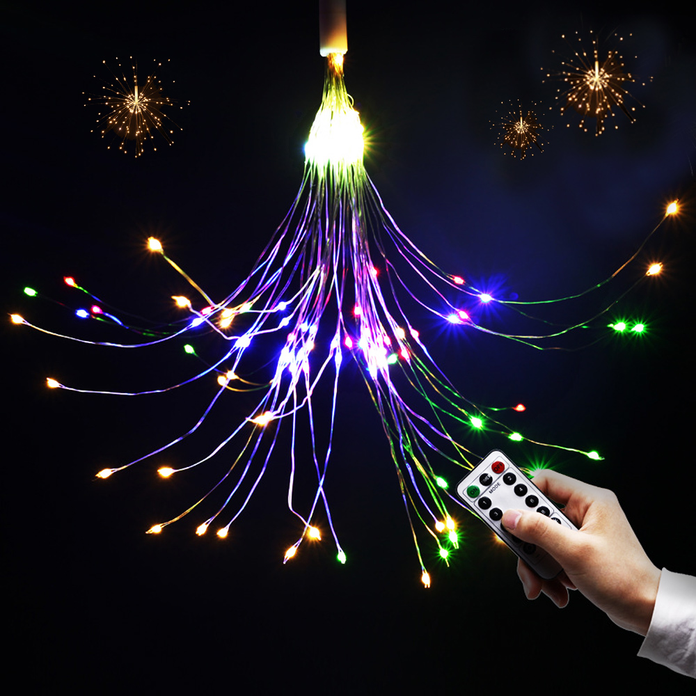 Us 11 48 33 Off Led Christmas Lights Battery Operated Usb Remote Control Wedding Party Garland Fairy Diy Decorative Fireworks String In