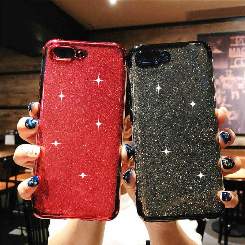 Luxury TPU Glitter 2 in 1 Phone Case For Huawei Honor 10 9 8 Lite 8X 7X 8C 7C 7A Y5 Y6 Prime 2018 Nova 3 4 Silicone Bling Cover