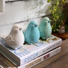 Nordic керамика товары для птиц фигурные статуэтки синий зеленый белая птица животных модель сад миниатюры украшения домашний декор