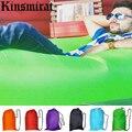 Saco de dormir saco de preguiçoso sofá de ar inflável laybag reunindo inflável ao ar livre Saco de Dormir Banana Beach Lounge Espreguiçadeira Cama De Ar