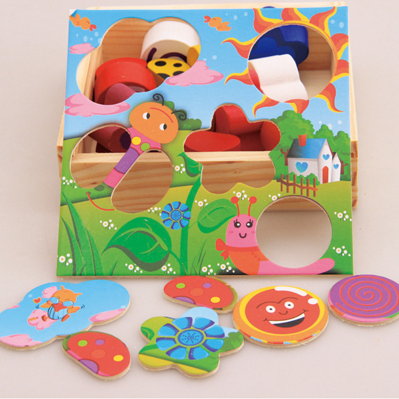Children Wooden Cartoon Game Recognition Matching Creative ...