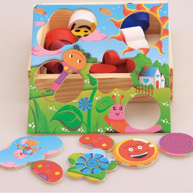 kinder holz cartoon spiel anerkennung passenden kreative baby lustige iterativen p dagogisches. Black Bedroom Furniture Sets. Home Design Ideas