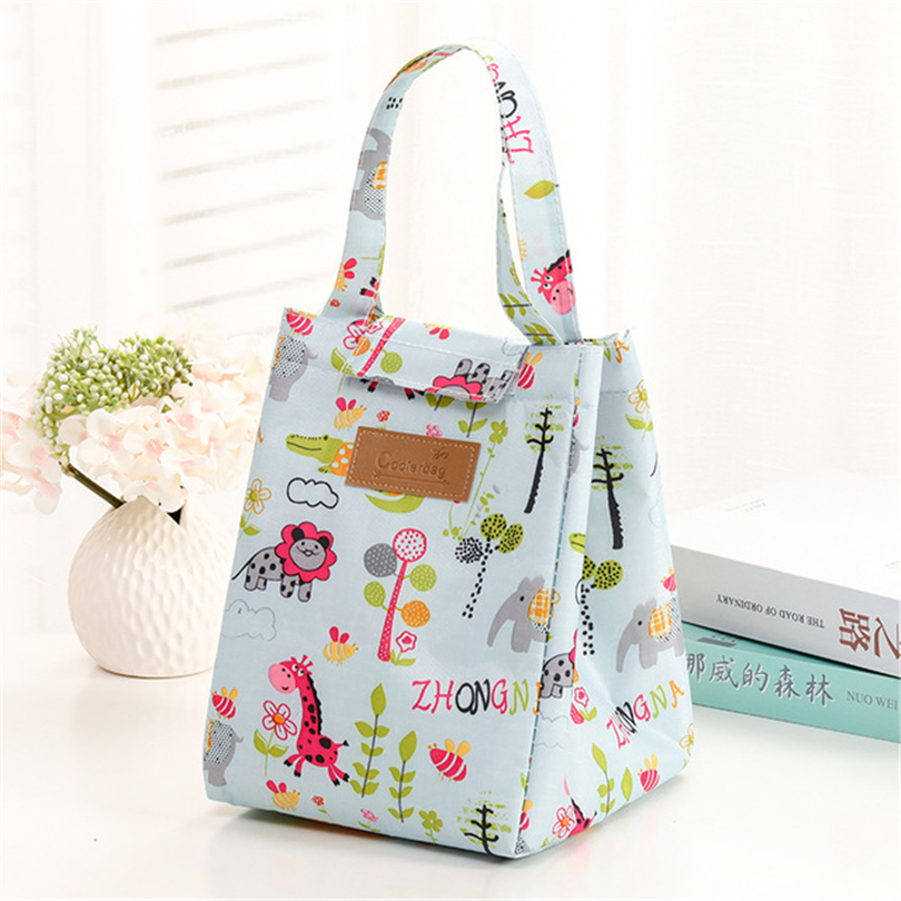 Insulation Package Aluminium Foil Insulated Picnic Lunch Bag Cartoon Print Women Fashion Warmer Food Keeper Bag Ice Pack