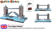 3D Tower Bridge of England Paper Models DIY Paper Craft World famous Building Model For Children Adult Educational Toy Building