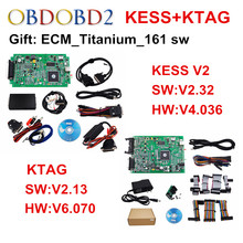 Conjunto completo V2.13 KTAG ECU Programador KESS V2 V2.32 V4.036/V5.017 gerente Sintonía Kit K K-TAG TAG No Tokens V6.070 Maestro Version