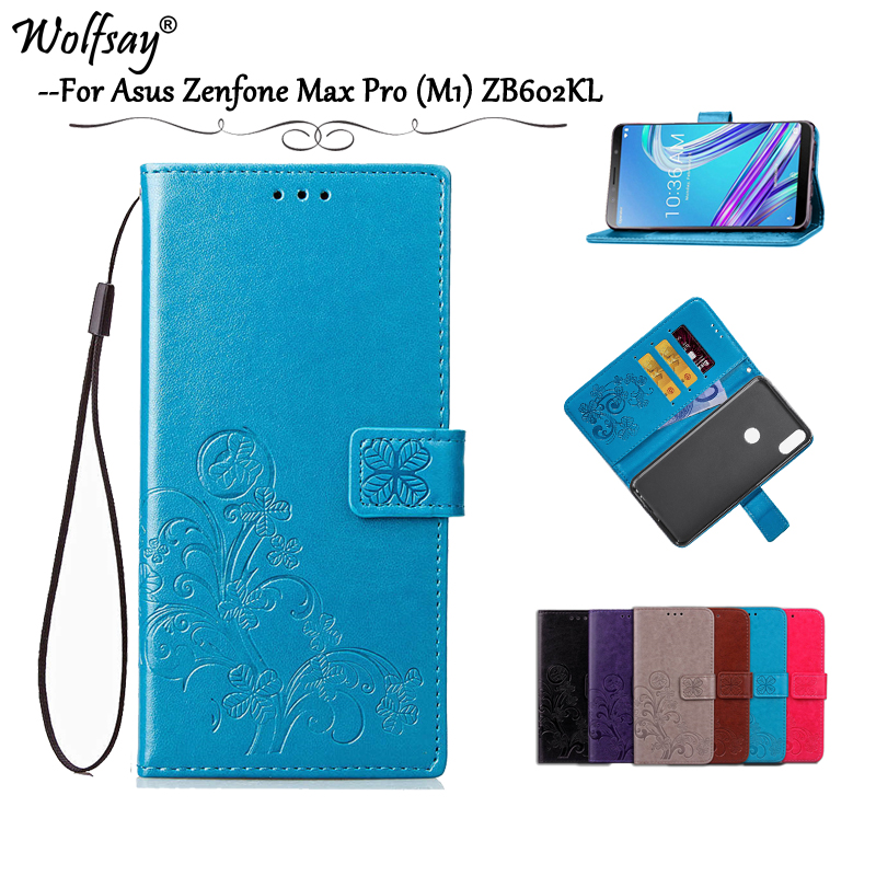 Asus Zenfone Max Pro (M1) ZB602KL Case PU Leather Flip Wallet Case Asus Zenfone Max Pro (M1) ZB602KL Silicone Cover ZB601KL Capa