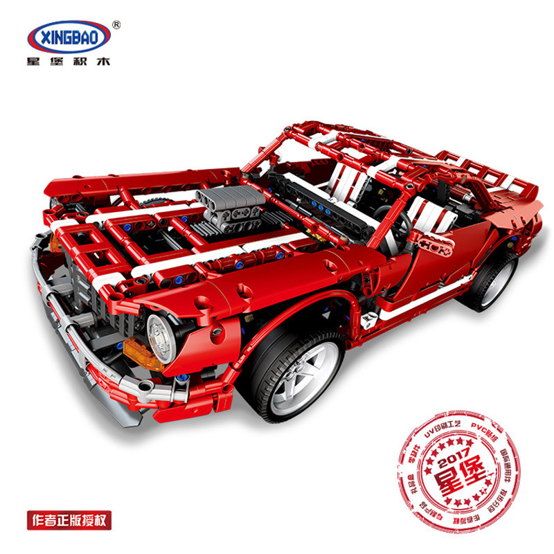 XingBao 07001 Creative MOC Series The 2014 Muscle Car Set children Educational Building Blocks Bricks Birthday