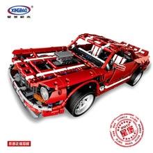 XingBao 07001 креативный MOC серии 2014 мышечный автомобиль набор детей развивающие строительные блоки кирпичи подарки на день рождения Игрушечная модель