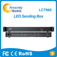 AMS LCT660 Led Video Screen Sender Box Can Install 6 Sending Cards Like Linsn Ts802d Nova
