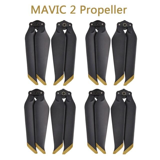 4 쌍 mavic 2 pro/zoom 8743f dji mavic 2 pro/zoom drone 액세서리 용 저소음 퀵 릴리스 프로펠러 블레이드