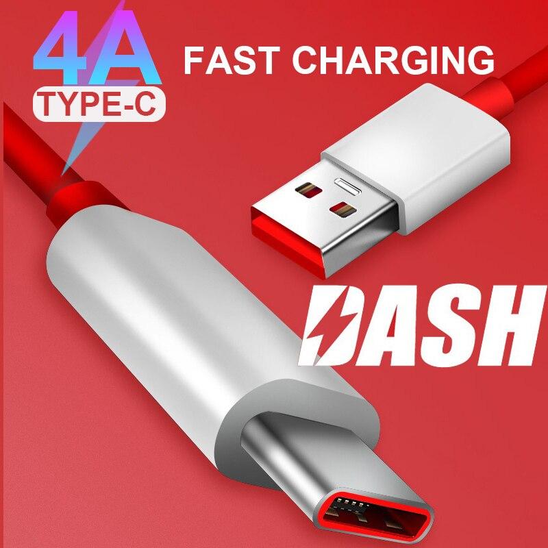 4A charge rapide OnePlus 7 Pro Dash câble USB 3.1 Type C chargeur rapide câble 1m 1.5m 2m pour un Plus 6 5T 5 3T 3 téléphone portable