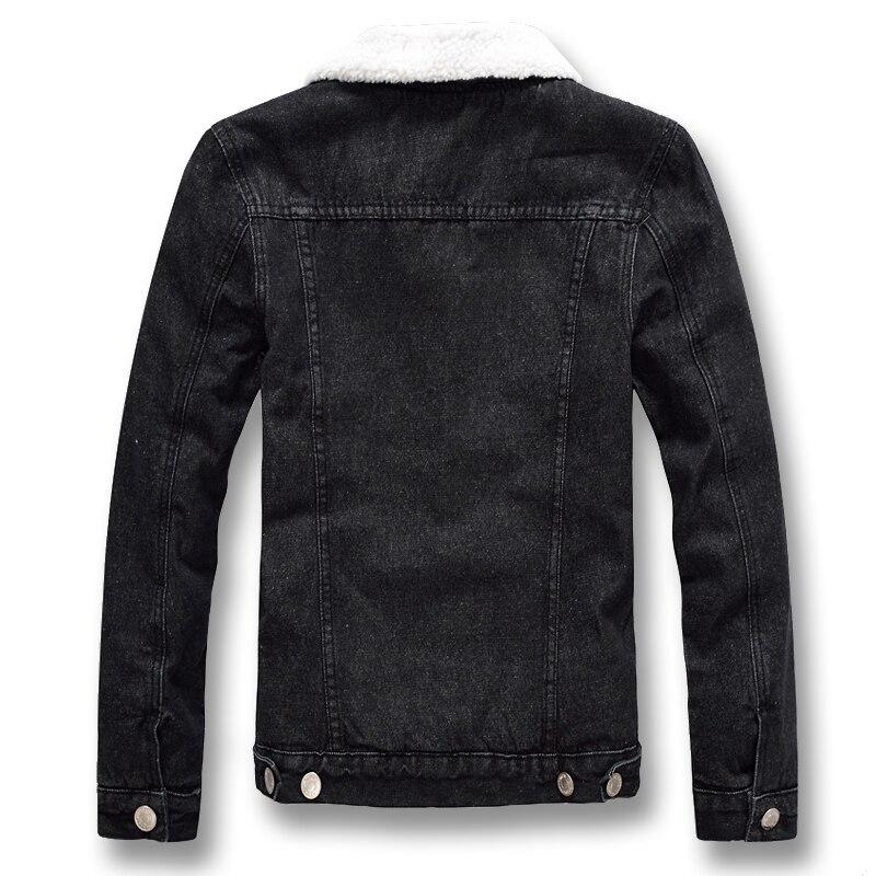 Et Manteaux Slim Polaire Fit 2019 Grande D'hiver Casual Vestes Denim Mâle Épais Isurvivor Mode Taille Black Hombre Jeans Hommes CQroeWxBd