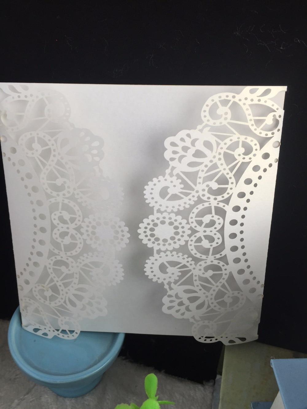 Good Vintage Friendship Greeting Card,25pcs Free Shipping White Laser Cut Handmade  Wedding Invitation Cards,