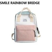 Backpack Laptop Women Canvas Daypacks Travel School Backpacks Fashion Rucksack Bagpack Mochila Female Multifunctional SchoolBag все цены