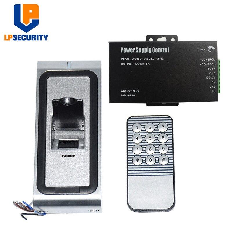 WG26 Metal Case Door Gate opener Access Control Fingerprint Reader Standalone with 12V 5A power transformer