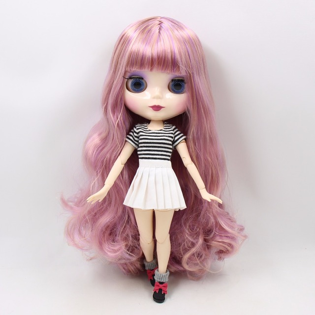 TBL Neo Blythe Doll Purple Golden Hair Jointed Body