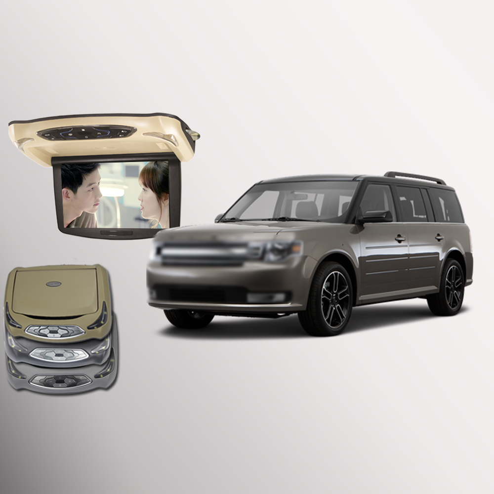 BigBigRoad 10,1 дюймов автомобиля ЖК дисплей Мониторы флип подпушка DVD экран накладные Мультимедиа Видео потолок на крышу дисплей для ford flex