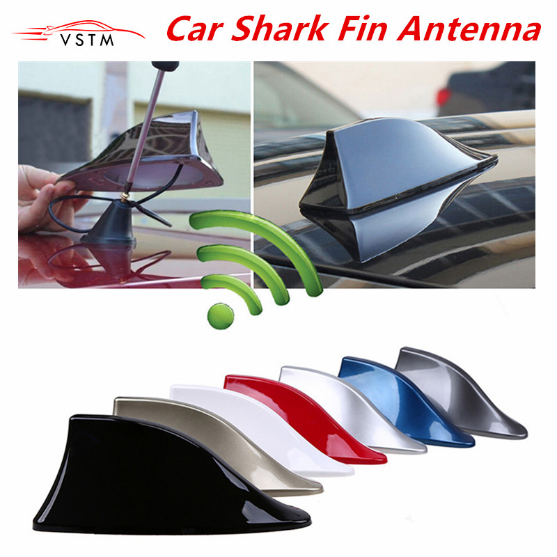 Auto Parts Car Shark Fin Antenna Radio Signal Aerials Roof Antennas For Most Of Cars Car Styling
