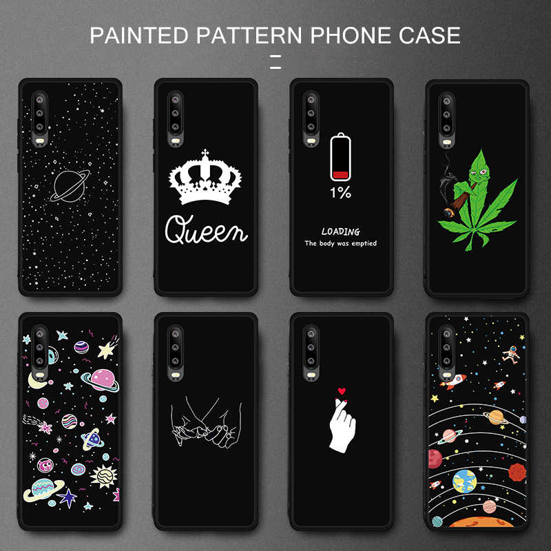 For Huawei P30 Pro Soft TPU Phone Case For Huawei P20 Lite Mate 20 X 10 Pro P30 P10 P8 P9 Lite 2017 P Smart Plus Patterned Cover