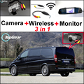 Para Mercedes Benz Vito/V Classe 3 em 1 WiFi Especial câmera Sem Fio + Receptor + Tela Espelho Retrovisor Sistema de Estacionamento de BackUp