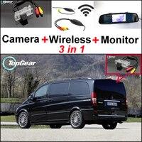 Voor Mercedes Benz Vito/V Klasse 3 in 1 Speciale WiFi Camera + Draadloze Ontvanger + Spiegel Screen Achteruitrijcamera BackUp Parkeersysteem