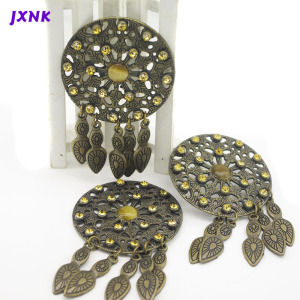 2PCS/lot 54mm Rhinestone retro badge belt backpack personality decoration micro chapter Women Brooches Metal scrapbooking