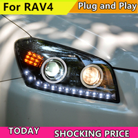 Car Styling For Toyota RAV4 headlights 2009 2010 20112012 2013 For RAV4 LED light Q5 bi xenon lens h7 xenon light