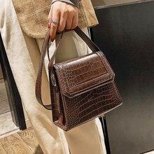 05770d678c75 Retro Small Bag Women 2019 Shoulder Bag Crocodile Grain Small Square Bag  Alligator Versatile Single-