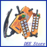 10 channels 1 Speed 2 transmitters Hoist Crane Remote Control Push Button Switch System Emergency Stop