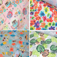 Floral Thick 380g Meter 210D Waterproof Oxford Fabric Cover Furniture Tablecloth Bags Canopy Tents Sunshade Cloth