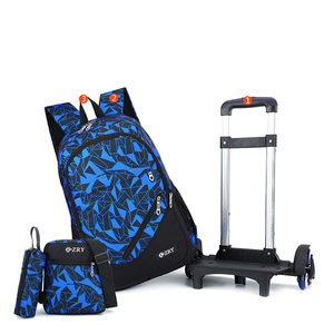 Image 5 - teens School Backpack Removable Children School Bags With 2/6 Wheels Stairs Kid boys girls Trolley Schoolbag Luggage Book Bag