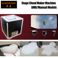 TIPTOP Stage Cloud Maker Colorful Foam Bubble Machine Flowing Fly Up Electrical Produce Foam Cloud Road Case Pack DMX Control