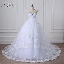 ADLN Princess Corset Empire Wedding Dresses with Crystal Sweetheart  Sleeveless Elegant Bridal Dress Vestidos de Novia 2018 f7cccdc1a9ed