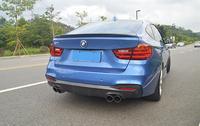Fibra de carbono ASA TRASEIRA DO CARRO Trunk Rear Lip Spoiler Asa Fit Para BMW Série F34 3 GT320i GT328i GT335i 2013  2017 POR EMS|Spoilers e aerofólios| |  -