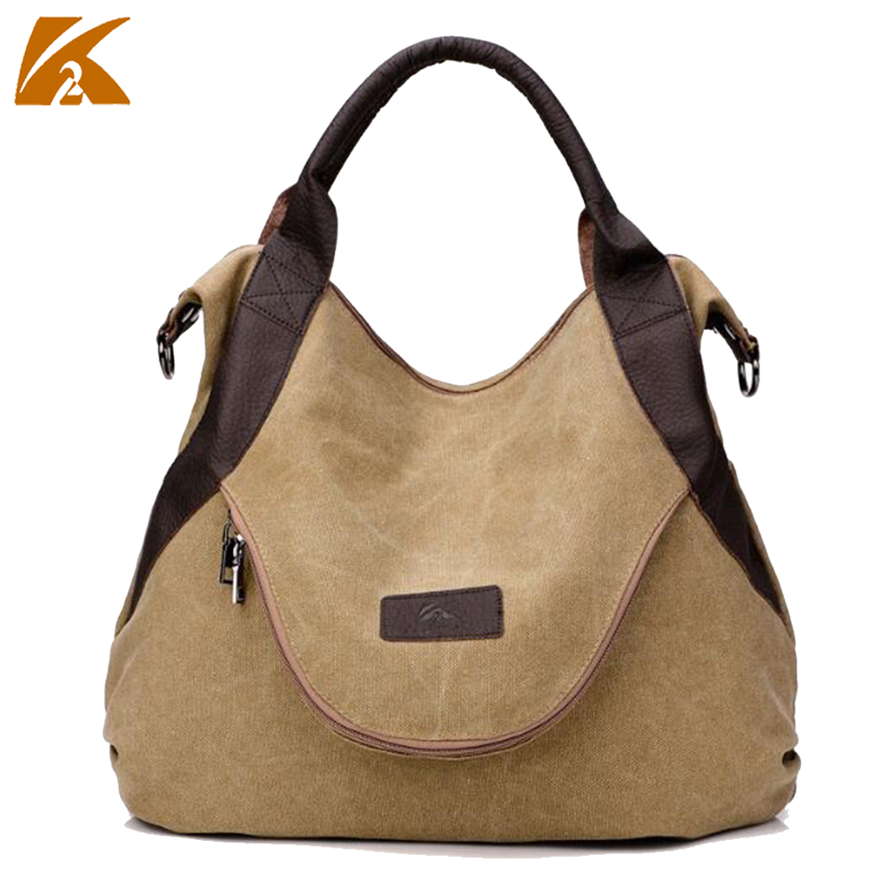 K-TWO hot sale women handbags large capacity women messenger bags casual canvas handbag for female ladies totes bolsas clutch high quality travel canvas women handbag casual large capacity hobos bag hot sell female totes bolsas ruched solid shoulder bag