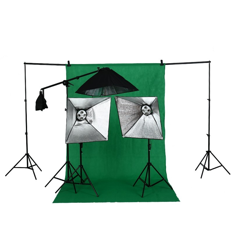 HOT SELL photographic equipment Photo Studio light stand kit tripod kit softbox photo light softbox set photo studio softbox kit photo equipment of 2pcs 50x70 softbox light stand for camera photo studio diffuser ba350