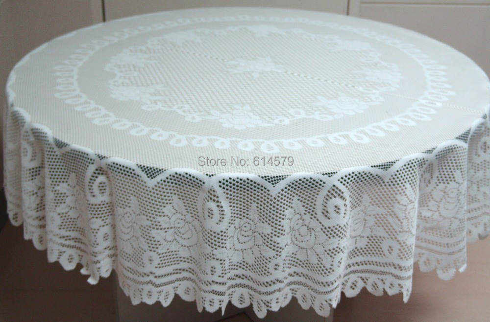 Ordinaire Polyester White Or Ivory Round And Rectangular New Rose Lace Tablecloths  For Wedding Decoration 82 Inch Lace Vinyl Tablecloths In Tablecloths From  Home ...