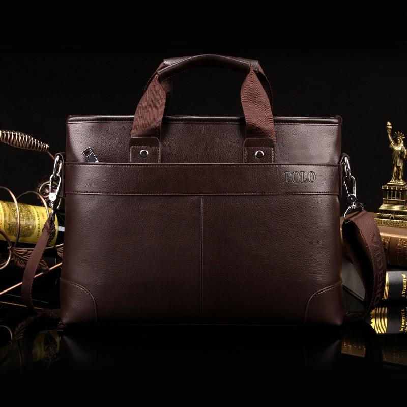 2017 Hot sale man bag business briefcase leather handbag Mens Messenger bag computer laptop leisure travel shoulder bag