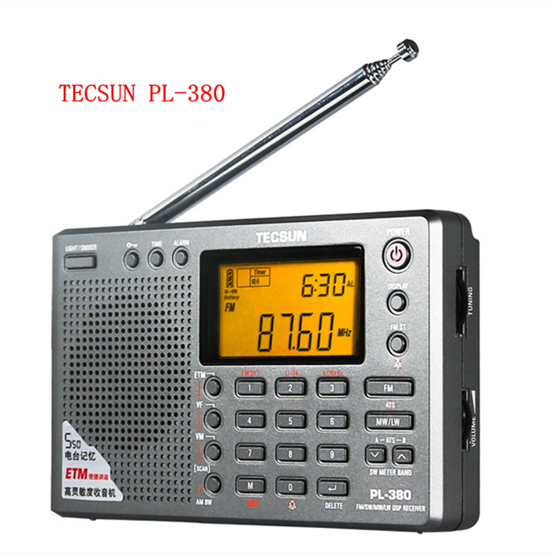 ФОТО Tecsun PL-380 radio Digital PLL Portable fm Radio FM Stereo/LW/SW/MW ETM DSP air band Receiver tecsun pl380 radio free shipping