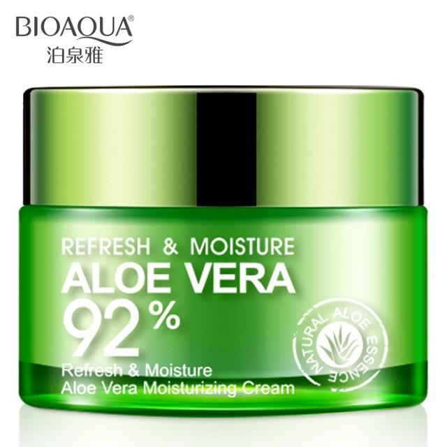 BIOAQUA 92% Aloe Vera Extract Essence Facial Cream Moisturizing Acne Treatment Blackhead Remover Whitening Refreshing Face Cream