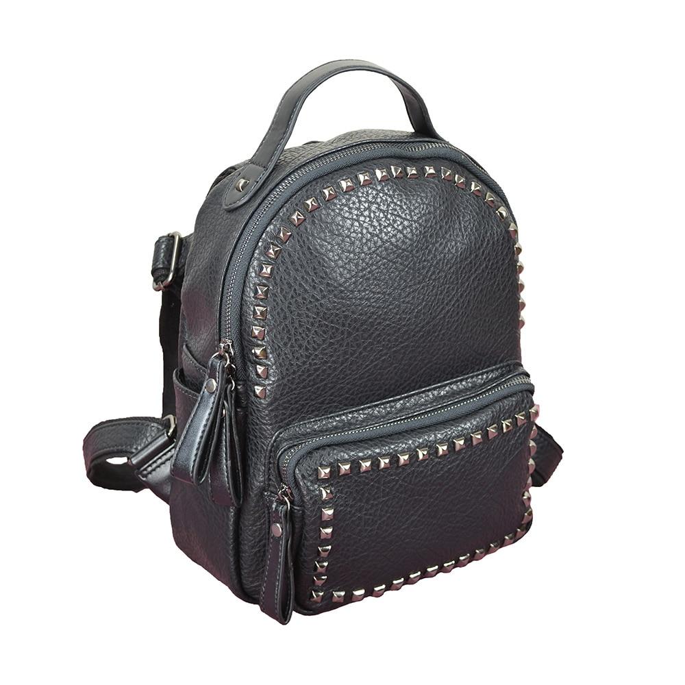 Luxury Women Cute Small Backpack Waterproof Fashion Black Women ...